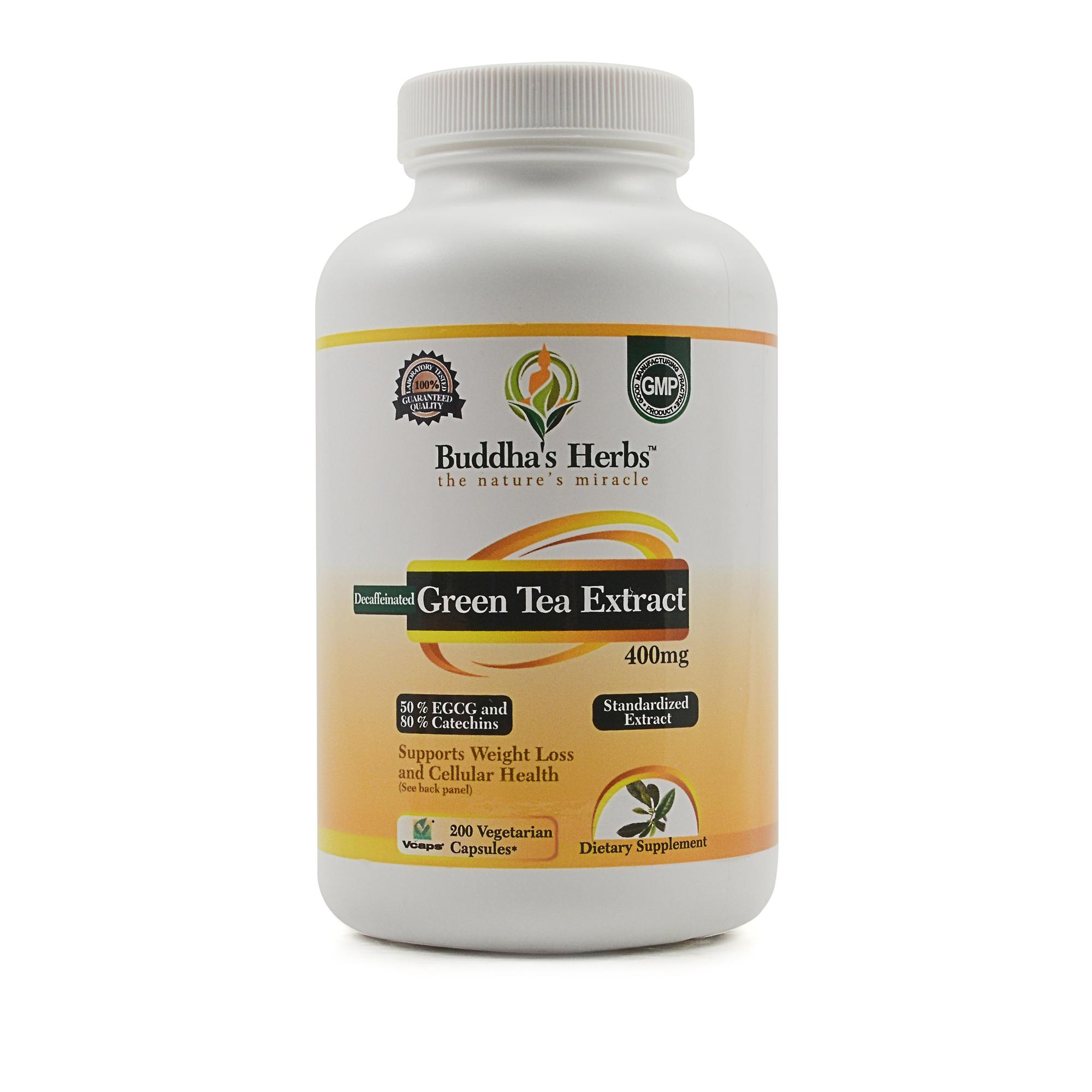 Decaffeinated green tea extract