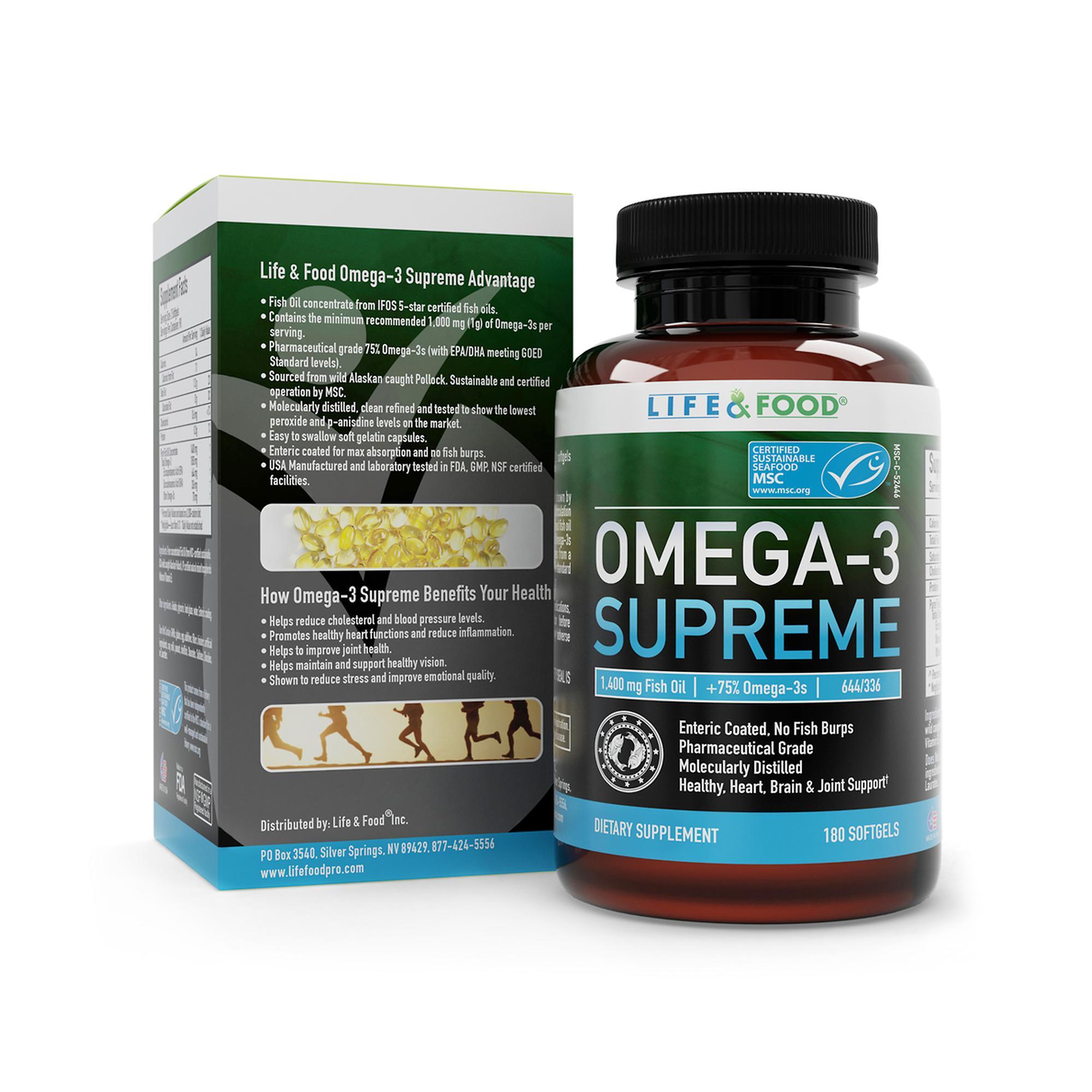 Life food omega 3 supreme for Labdoor fish oil