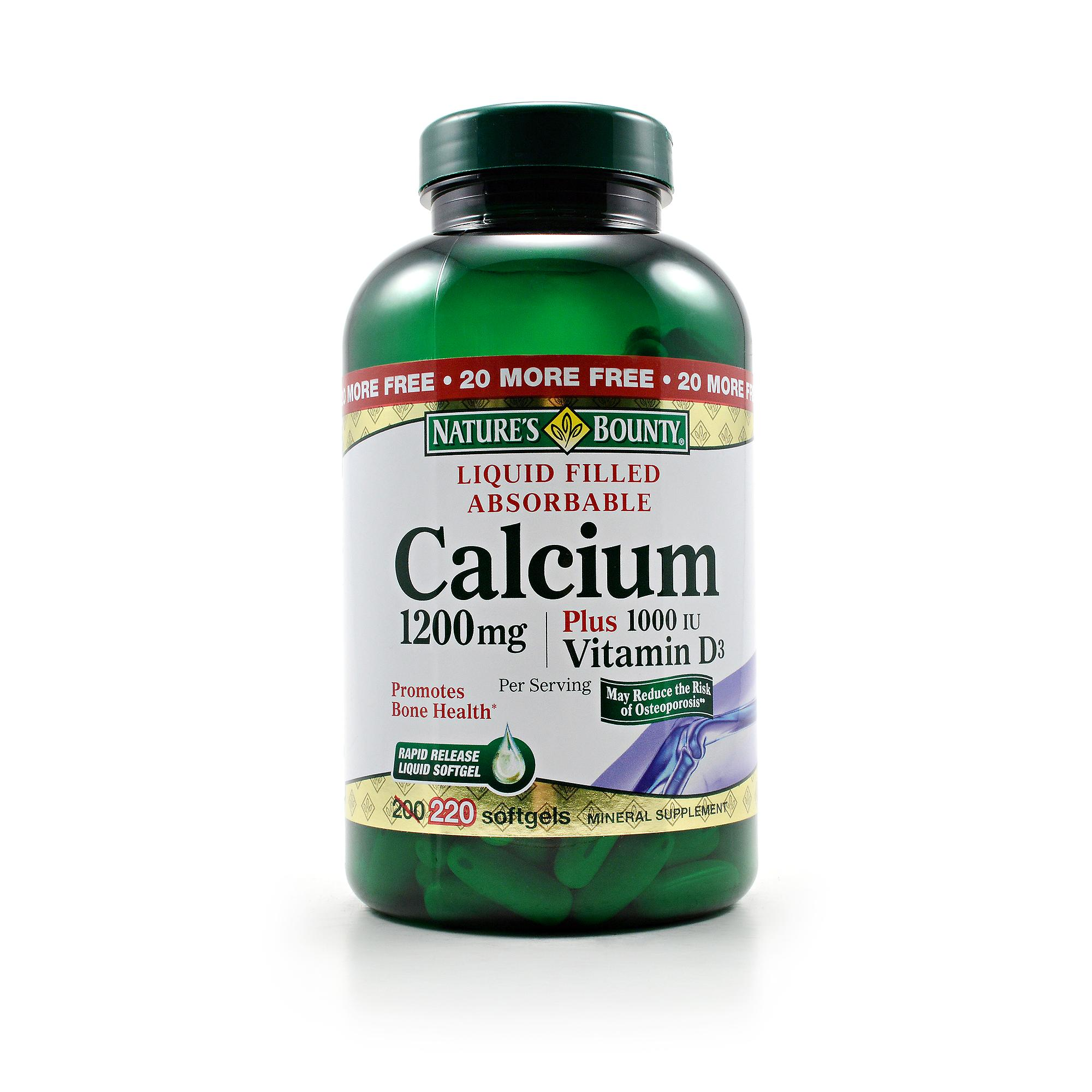 Nature 39 s bounty calcium plus vitamin d3 review labdoor for Nature s bounty fish oil review
