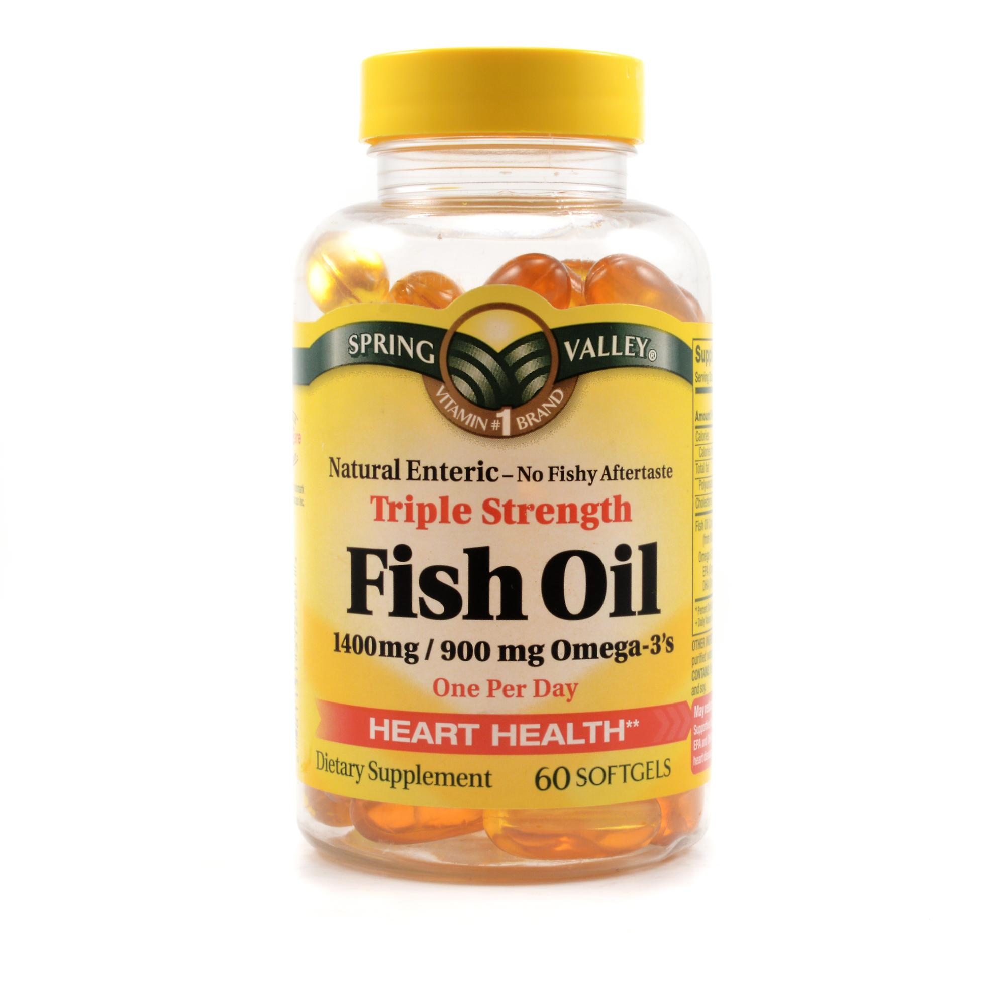Spring Valley Triple Strength Fish Oil Review Labdoor