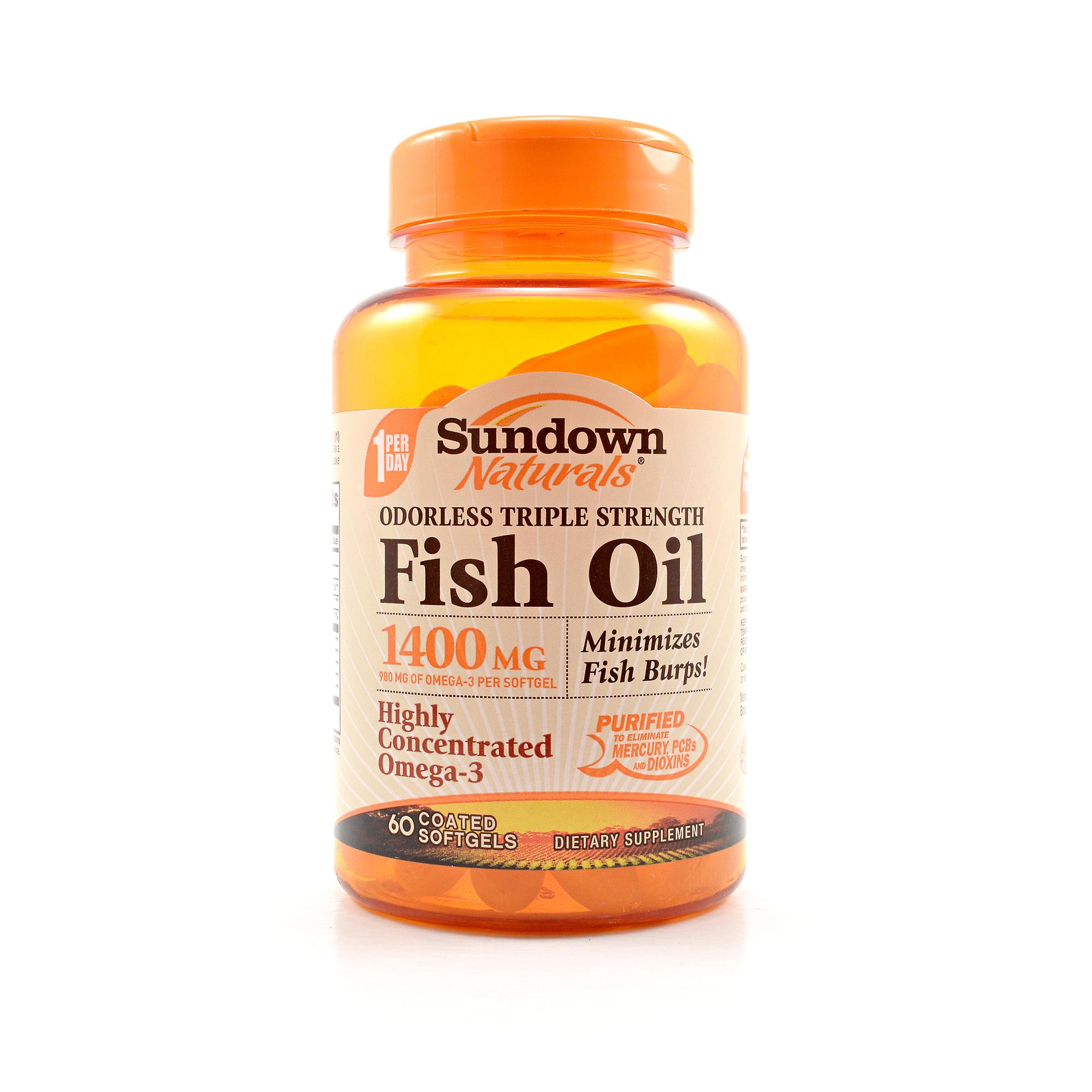 Sundown triple strength odorless fish oil review labdoor for Odorless fish oil