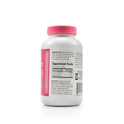 Calcium Carbonate (Caltrate 600) Uses, Side Effects & Formula