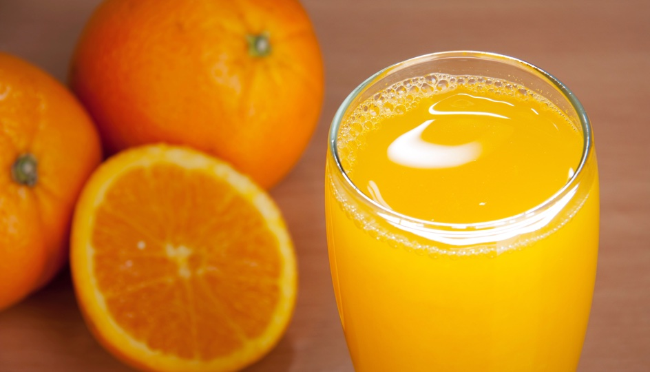 Orange juice has Vitamin C